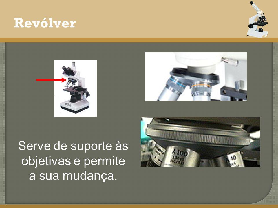Revólver Serve de suporte às objetivas e permite a sua mudança.