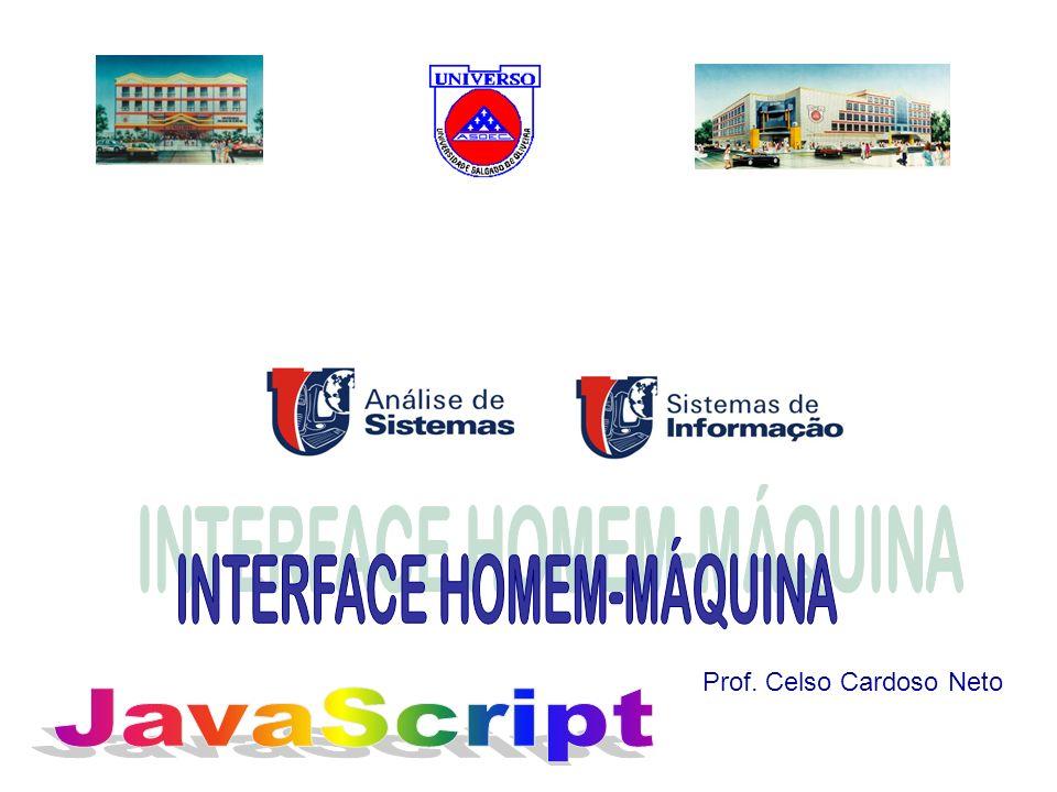 Exemplo JavaScript305 No browser, clique na opção Exibir código-fonte...