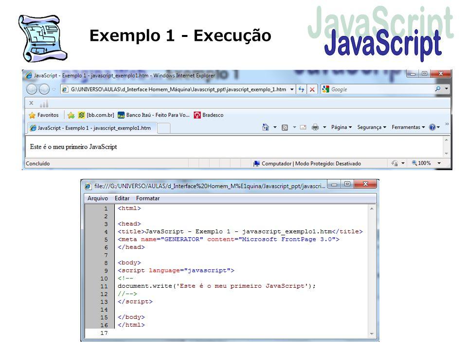Exemplo 1 - Execução