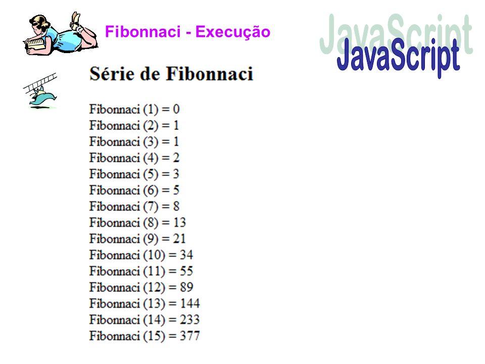 Fibonnaci - Execução