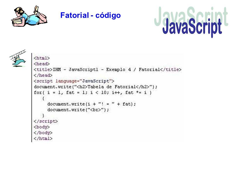 Fatorial - código