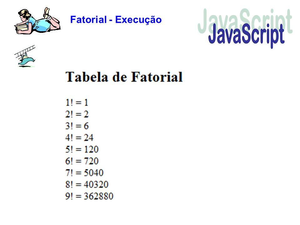 Fatorial - Execução