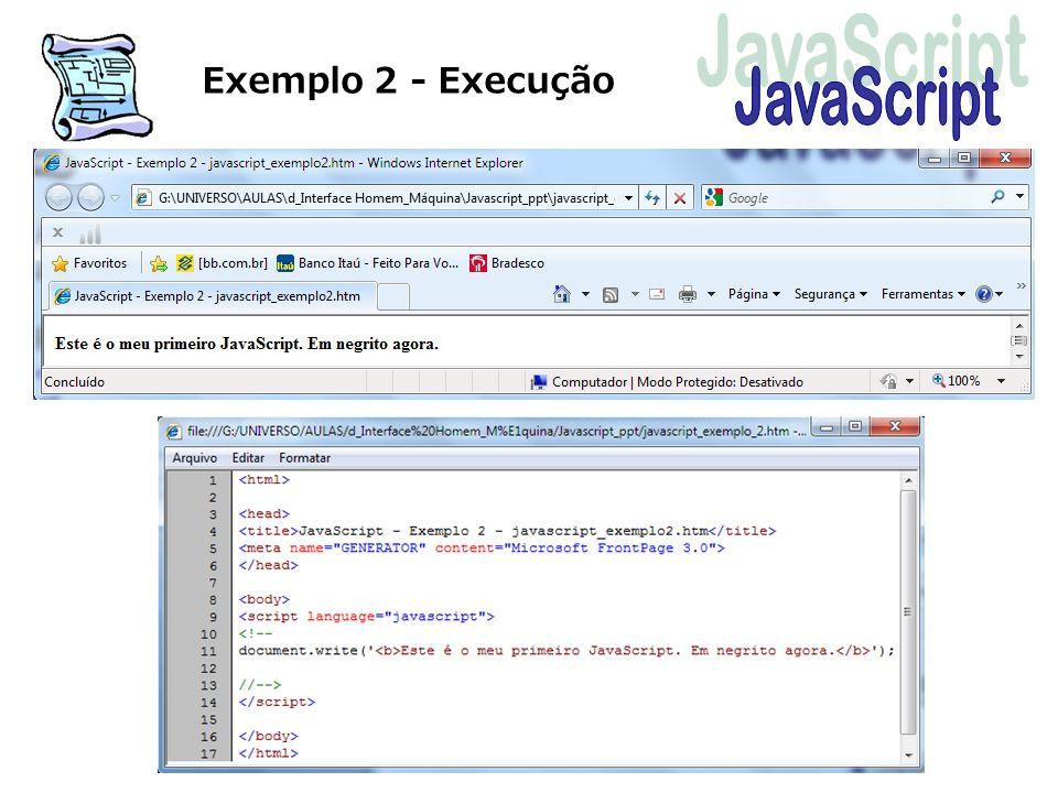 Exemplo 2 - Execução
