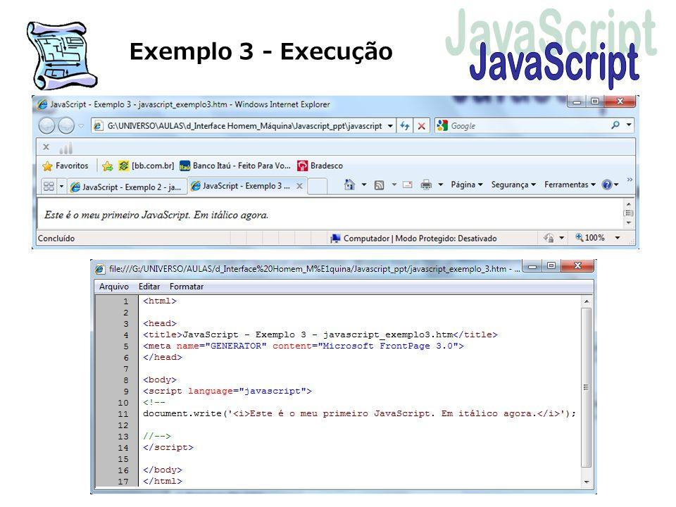 Exemplo 3 - Execução