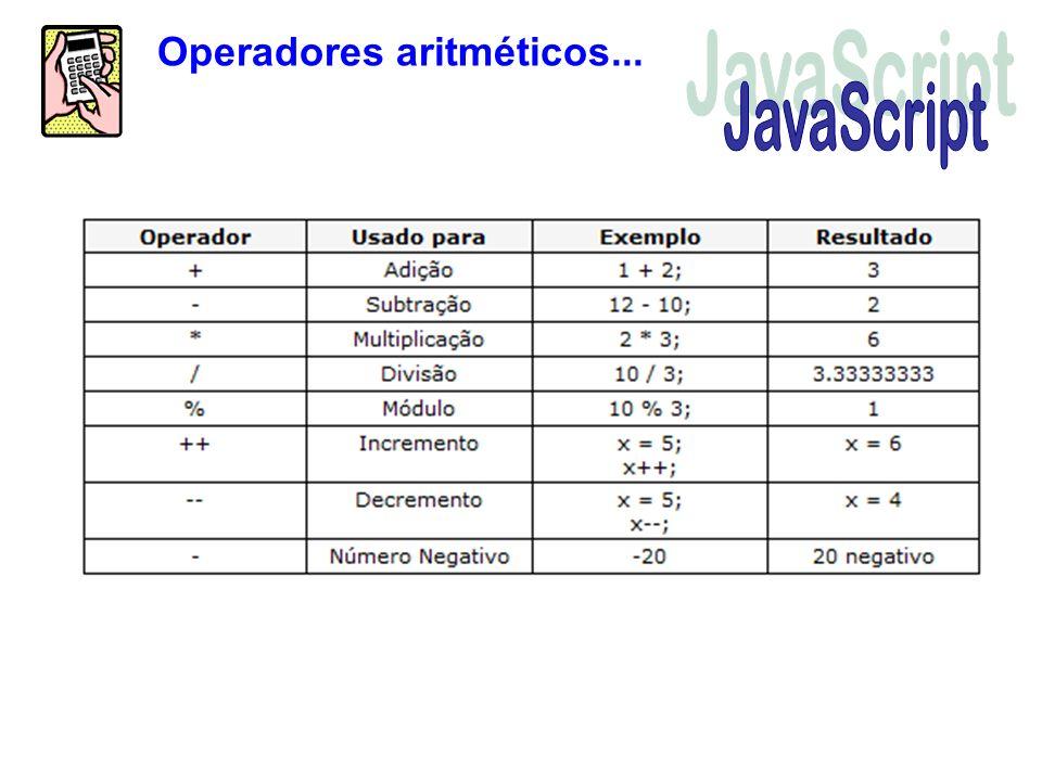 Operadores aritméticos...