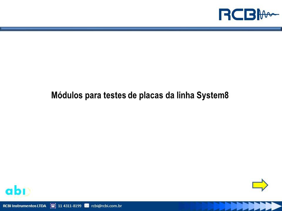 Módulo para testes Analógicos (AICT) Características do Módulo AICT: Testes Funcionais de componentes Analógicos in-circuit Ex: LM339,MC1458,TL061A, AD817AN e outros.