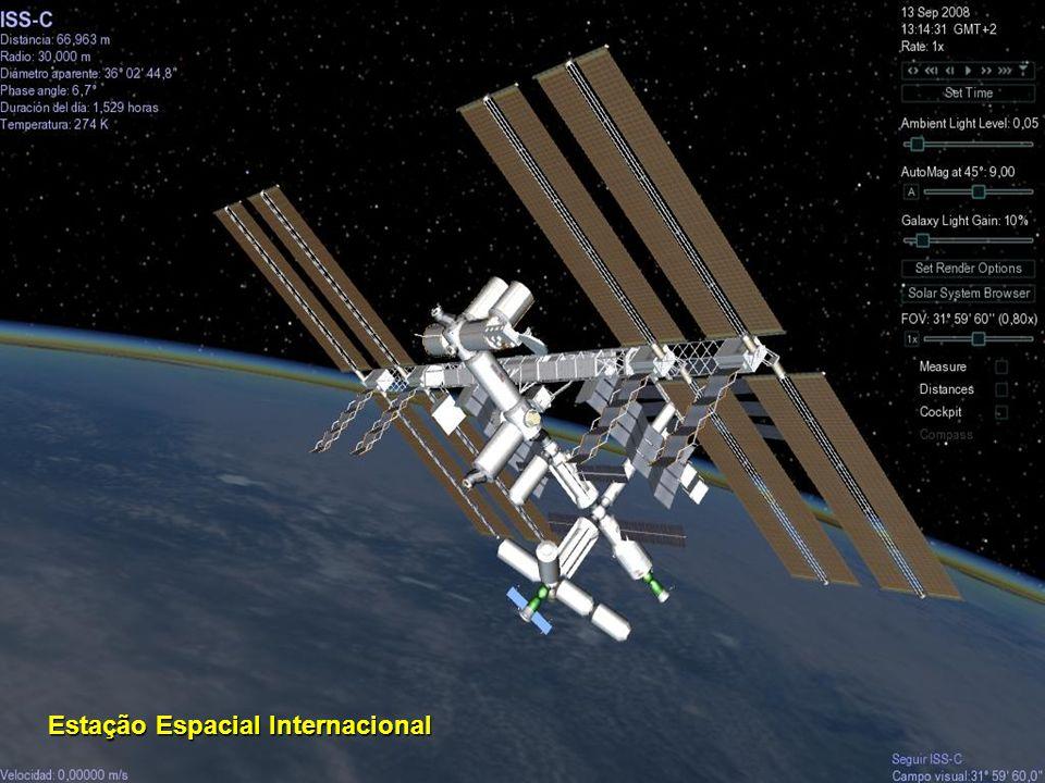 O telescópio Hubble está localizado fora de nossa atmosfera, orbitando em torno da Terra a 593 km acima do nível do mar, com um período orbital de cer