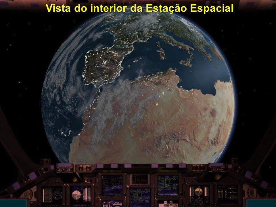 Vista do interior da Estação Espacial Vista do interior da Estação Espacial