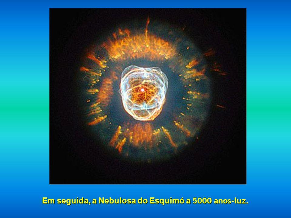 Em seguida, a Nebulosa do Esquimó a 5000 anos-luz.
