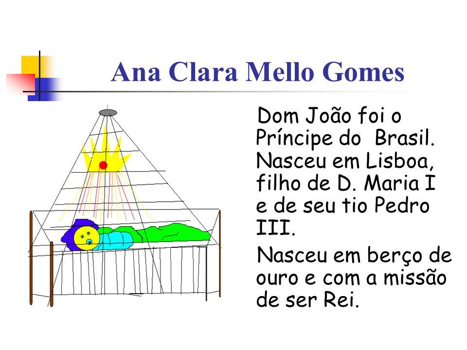 Ana Clara Mello Gomes Dom João foi o Príncipe do Brasil. Nasceu em Lisboa, filho de D. Maria I e de seu tio Pedro III. Nasceu em berço de ouro e com a