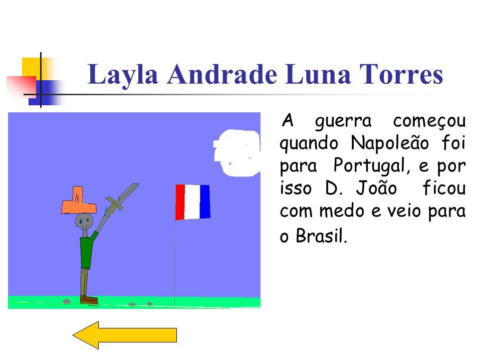 Layla Andrade Luna Torres A guerra começou quando Napoleão foi para Portugal, e por isso D. João ficou com medo e veio para o Brasil.
