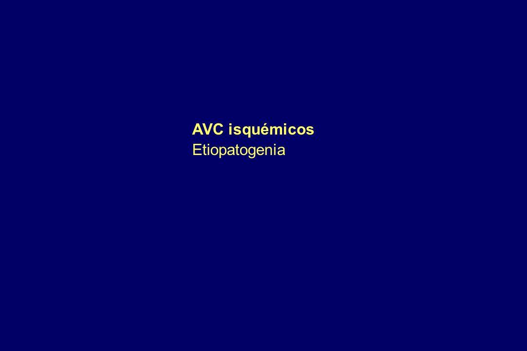 AVC isquémicos Etiopatogenia