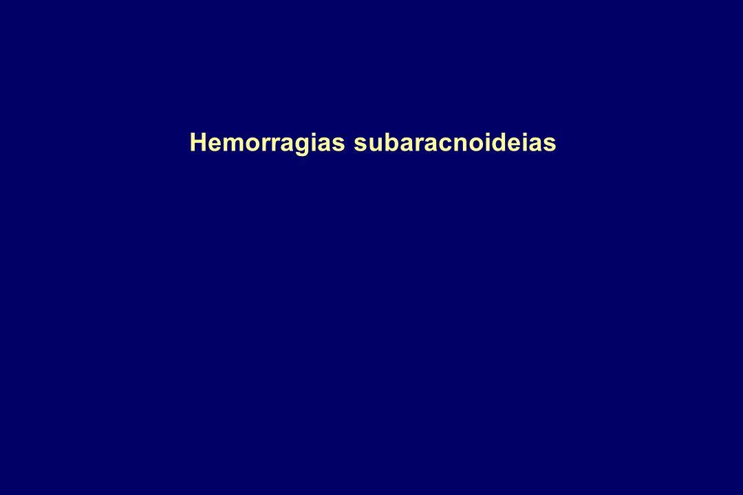 Hemorragias subaracnoideias
