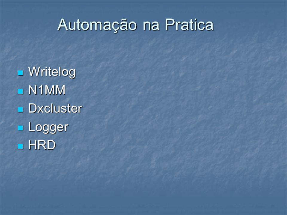 Automação na Pratica Writelog Writelog N1MM N1MM Dxcluster Dxcluster Logger Logger HRD HRD