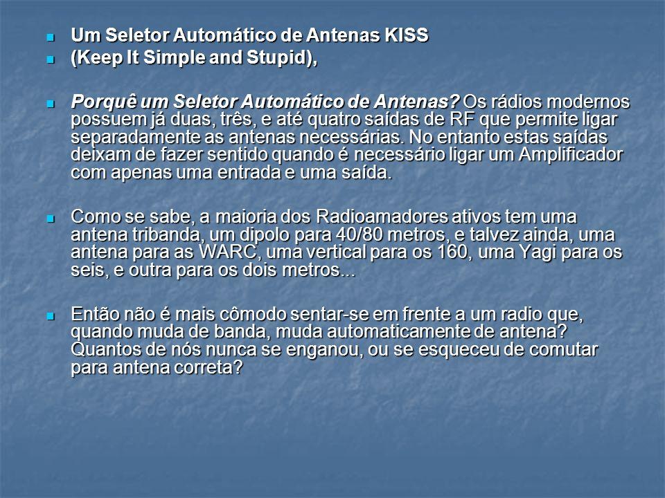 Um Seletor Automático de Antenas KISS Um Seletor Automático de Antenas KISS (Keep It Simple and Stupid), (Keep It Simple and Stupid), Porquê um Seleto