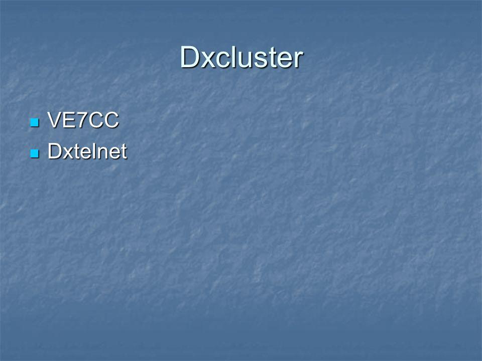 Dxcluster VE7CC VE7CC Dxtelnet Dxtelnet