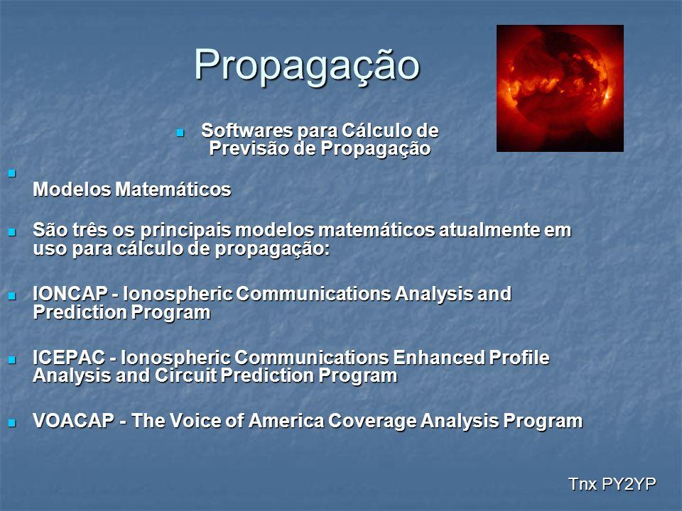 Propagação Softwares para Cálculo de Previsão de Propagação Softwares para Cálculo de Previsão de Propagação Modelos Matemáticos Modelos Matemáticos S