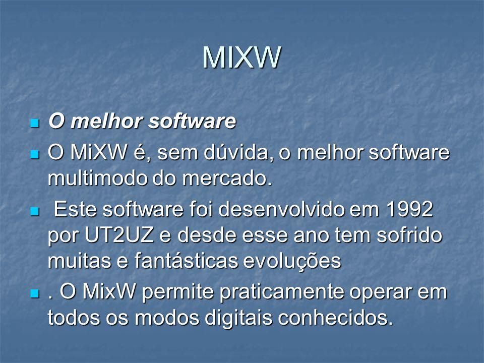 MIXW O melhor software O melhor software O MiXW é, sem dúvida, o melhor software multimodo do mercado. O MiXW é, sem dúvida, o melhor software multimo