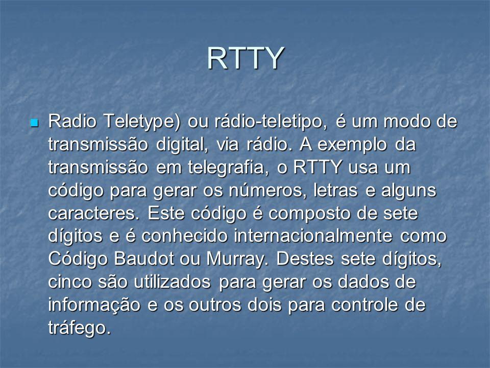 RTTY Radio Teletype) ou rádio-teletipo, é um modo de transmissão digital, via rádio. A exemplo da transmissão em telegrafia, o RTTY usa um código para