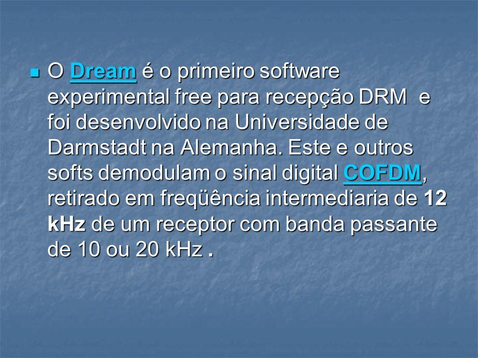 O Dream é o primeiro software experimental free para recepção DRM e foi desenvolvido na Universidade de Darmstadt na Alemanha. Este e outros softs dem