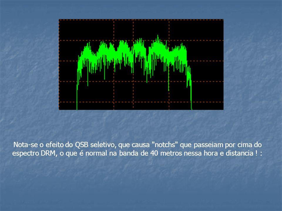 Nota-se o efeito do QSB seletivo, que causa