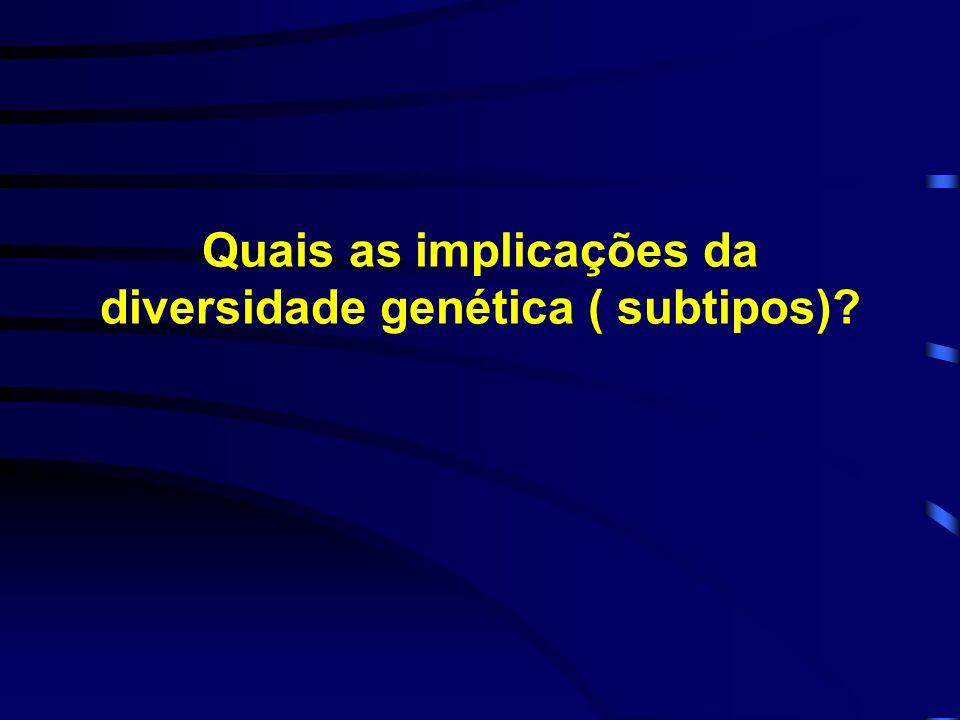 Quais as implicações da diversidade genética ( subtipos)?