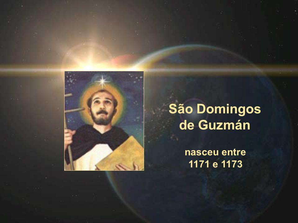 São Domingos de Guzmán nasceu entre 1171 e 1173
