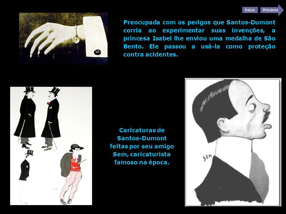 Início Próximo Preocupada com os perigos que Santos-Dumont corria ao experimentar suas invenções, a princesa Isabel lhe enviou uma medalha de São Bent