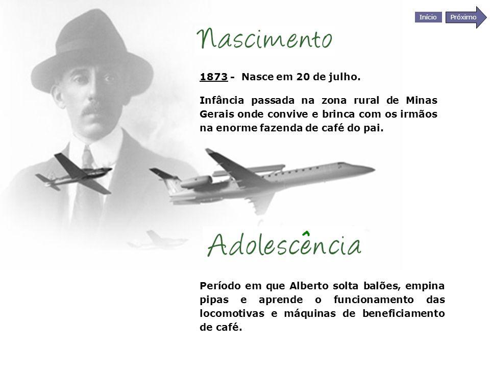 Início Próximo Santos-Dumont construiu uma máquina diferente de tudo: uma aeronave com estrutura retangular de pinho – tipo caixa, com juntas de alumínio, revestida de lona e amarrada com cordas de piano.