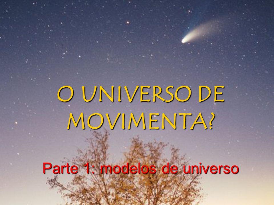 MODELOS PARA EXPLICAR O UNIVERSO Como explicar todos os movimentos que vemos nos céus??.
