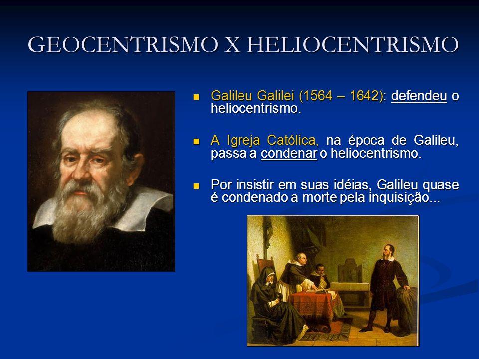 GEOCENTRISMO X HELIOCENTRISMO Galileu Galilei (1564 – 1642): defendeu o heliocentrismo. Galileu Galilei (1564 – 1642): defendeu o heliocentrismo. A Ig