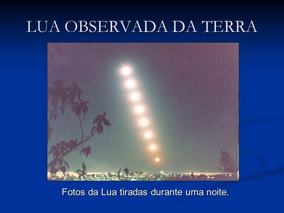 LUA OBSERVADA DA TERRA Fotos da Lua tiradas ao longo de duas semanas, no mesmo horário.