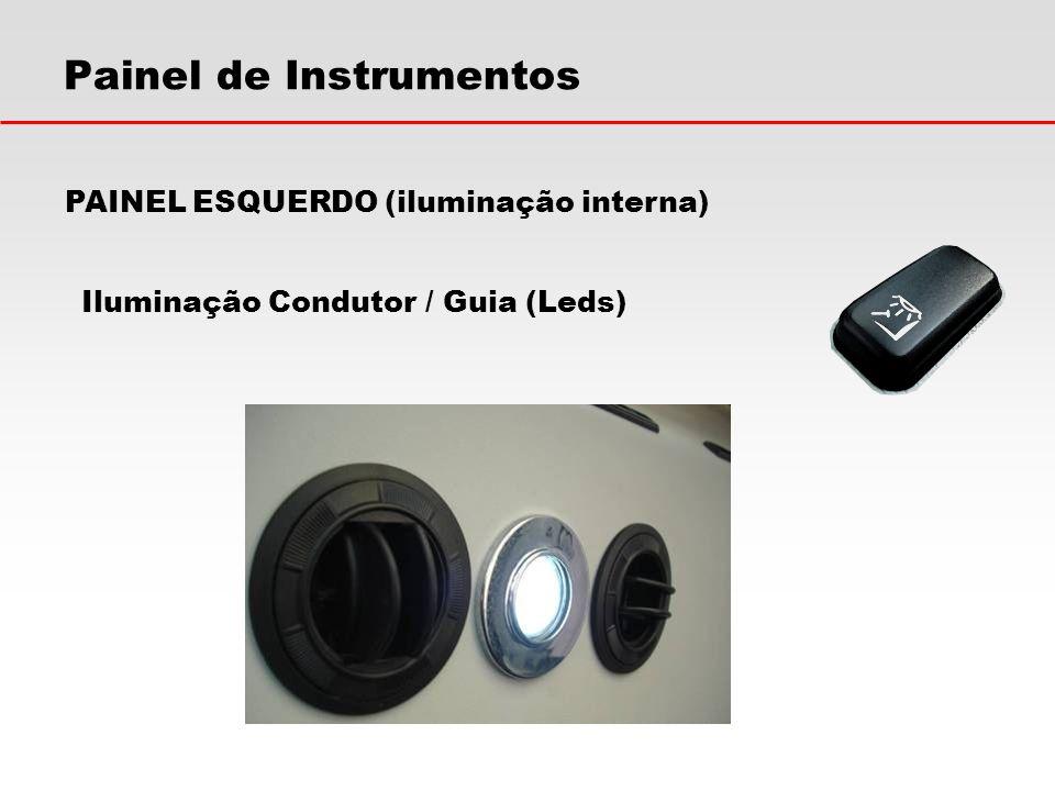 Painel de Instrumentos Iluminação Condutor / Guia (Leds) PAINEL ESQUERDO (iluminação interna)