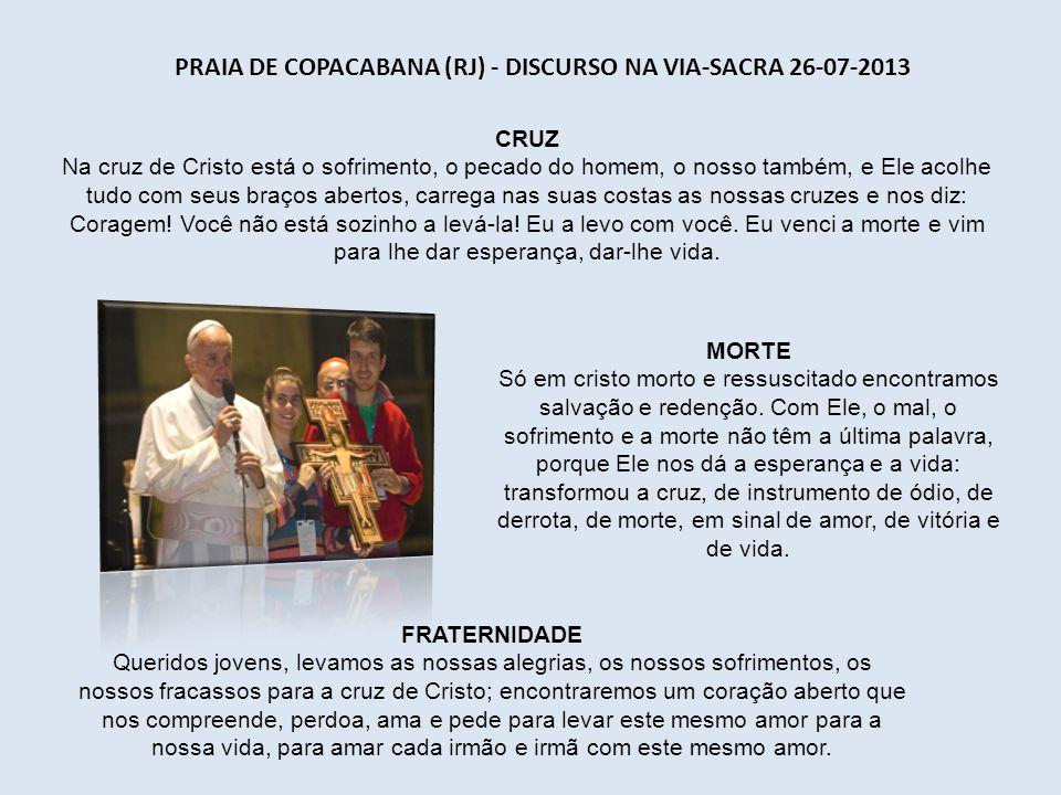 PALÁCIO SÃO JOAQUIM (RJ) - ORAÇÃO DO ÂNGELUS 26-08-2013 AVÓS Como os avós são importantes na vida da família, para comunicar o patrimônio de humanidad