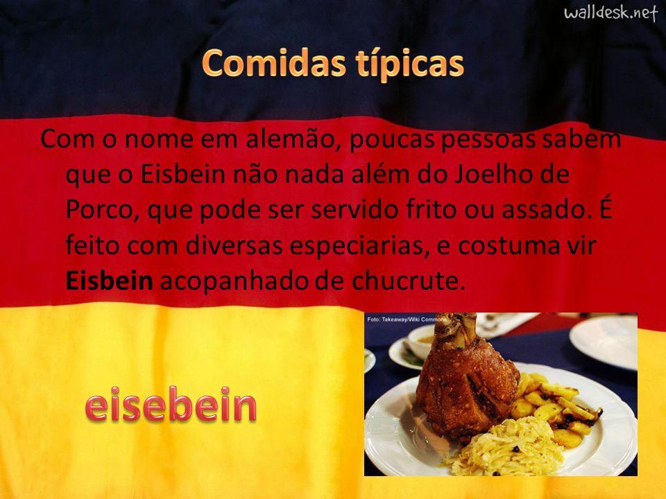 Com o nome em alemão, poucas pessoas sabem que o Eisbein não nada além do Joelho de Porco, que pode ser servido frito ou assado. É feito com diversas
