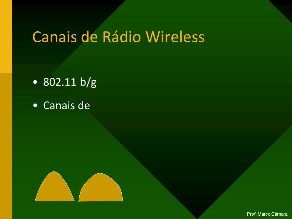 Canais de Rádio Wireless 802.11 b/g Canais de Prof. Marco Câmara