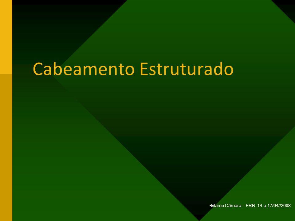 Marco Câmara – FRB 14 a 17/04//2008 Cabeamento Estruturado