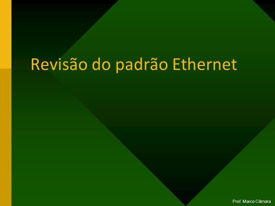 Revisão do padrão Ethernet Prof. Marco Câmara