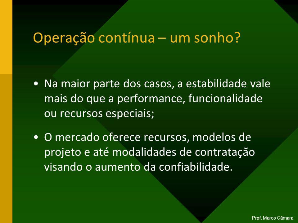 Operação contínua – um sonho? Na maior parte dos casos, a estabilidade vale mais do que a performance, funcionalidade ou recursos especiais; O mercado
