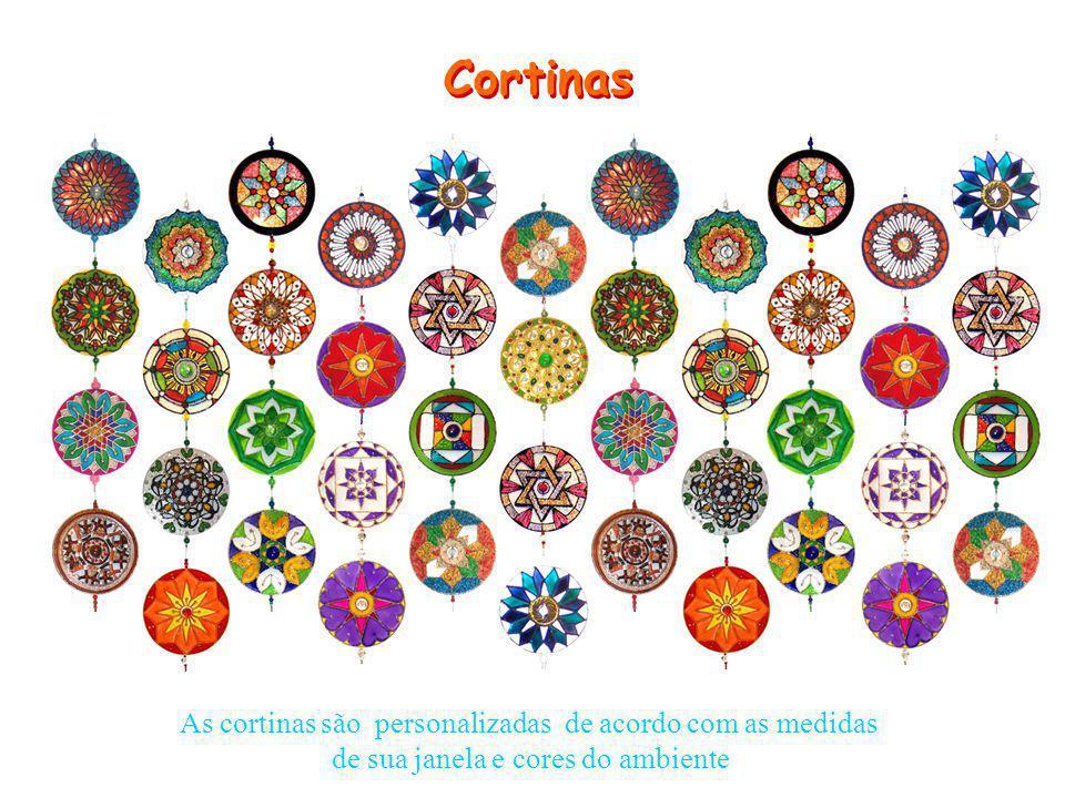 As cortinas são personalizadas de acordo com as medidas de sua janela e cores do ambiente Cortinas