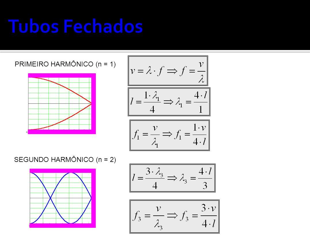 PRIMEIRO HARMÔNICO (n = 1) SEGUNDO HARMÔNICO (n = 2)