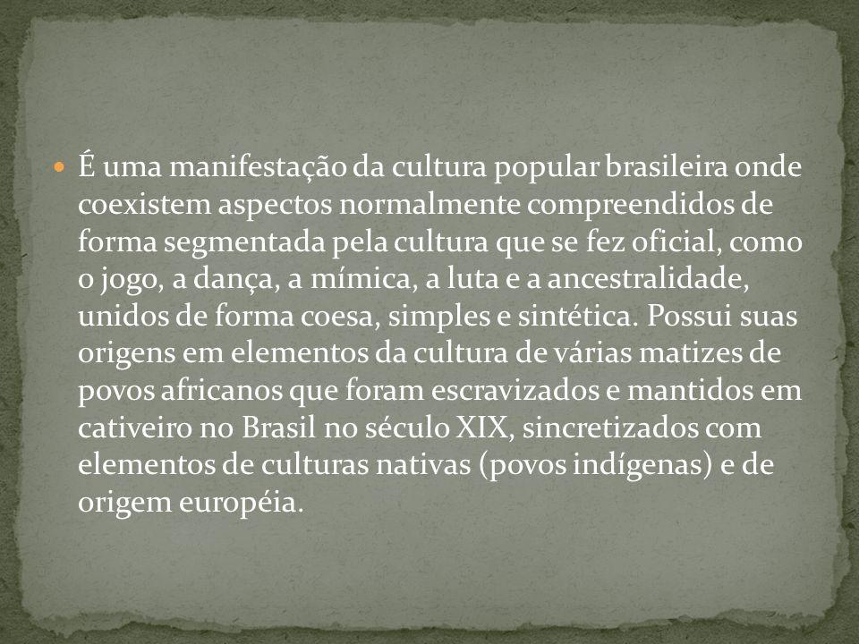 É uma manifestação da cultura popular brasileira onde coexistem aspectos normalmente compreendidos de forma segmentada pela cultura que se fez oficial