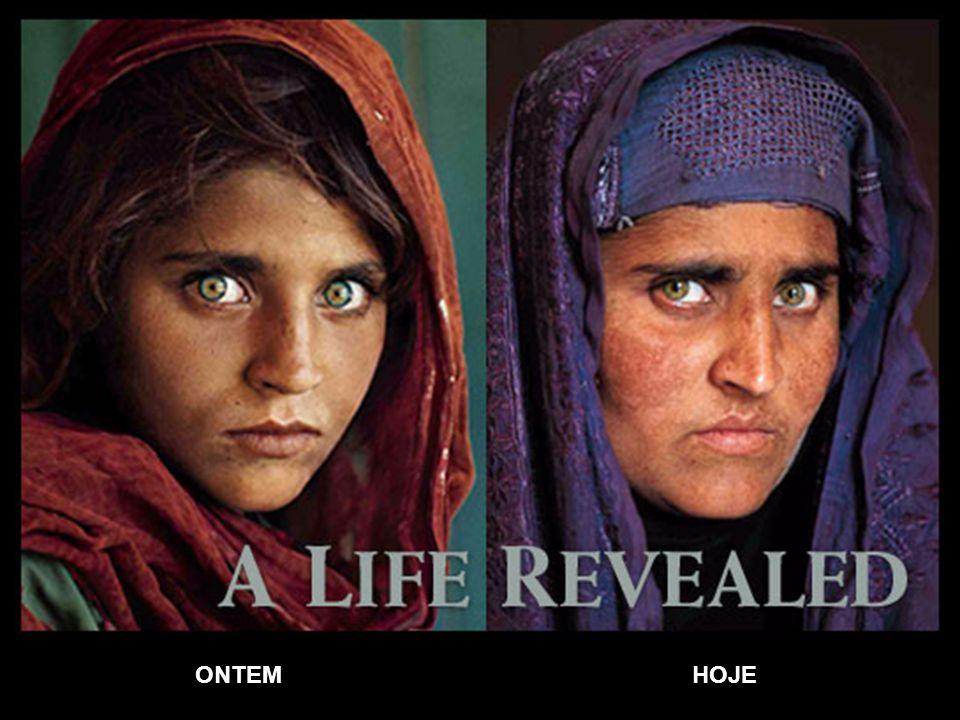 A menina Afegã Sharbat Gula foi fotografada quando tinha 12 anos pelo fotógrafo Steve McCurry, em junho de 1984.