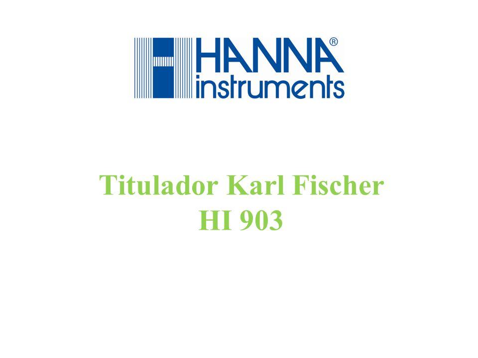 Titulação Volumétrica Karl Fischer HI903 - Análise de Mercado - Aplicações - Teoria - Instrumentação