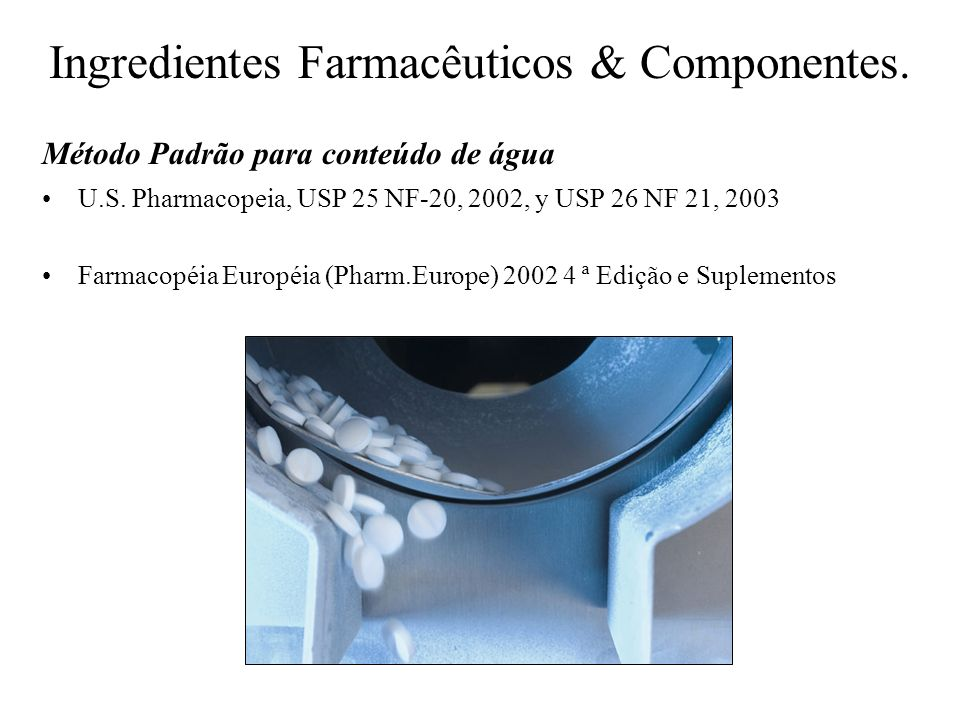Ingredientes Farmacêuticos & Componentes.U.S.