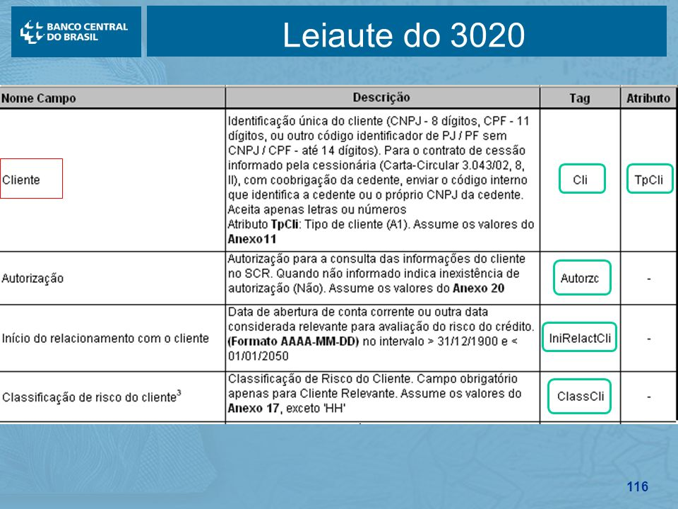 116 Leiaute do 3020