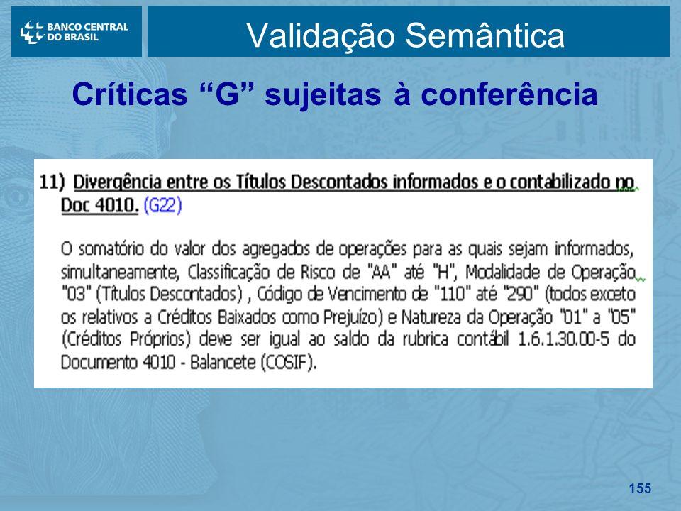 155 Validação Semântica Críticas G sujeitas à conferência