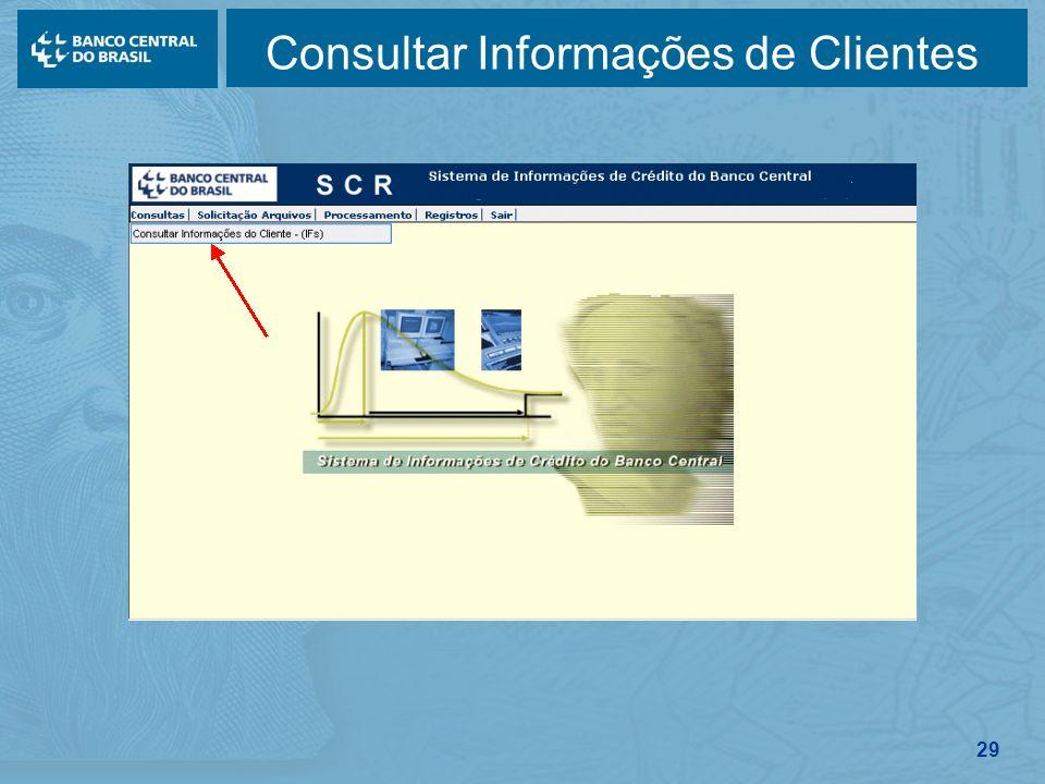 29 Consultar Informações de Clientes