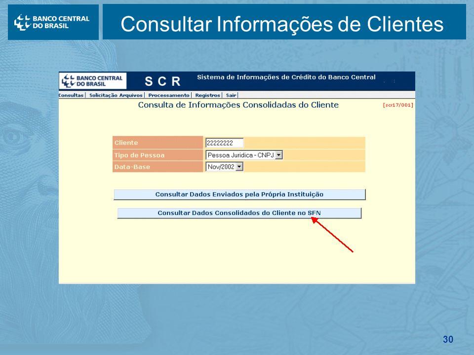 30 Consultar Informações de Clientes
