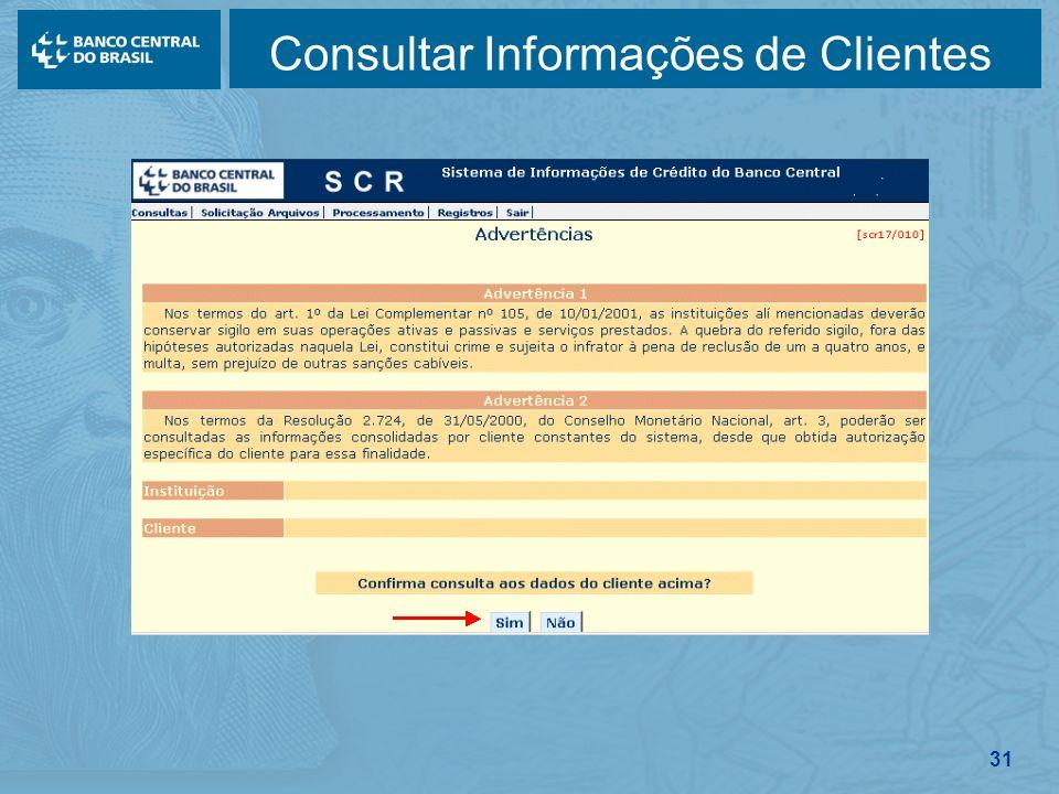 31 Consultar Informações de Clientes